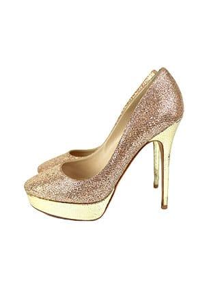 Altın Renk Gelin Ayakkabısı Modelleri