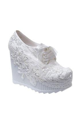 Dolgu Topuk Converse Gelin Ayakkabısı
