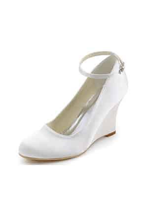 Dolgu Topuk Stil Gelin Ayakkabısı