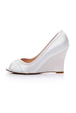 Dolgu Topuk Ucu Açık Gelin Ayakkabısı