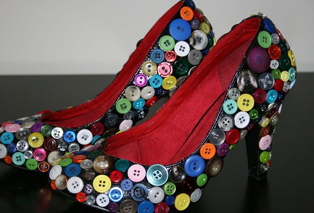 Gelin Ayakkabısı Düğme Süsleme