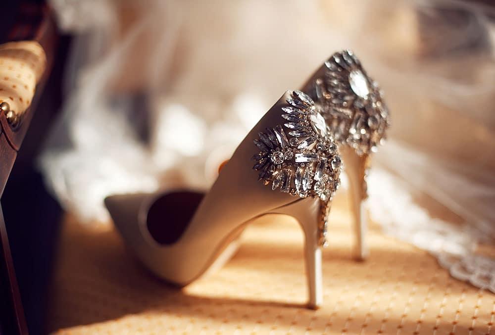 Gelin Ayakkabısı Taş Süsleme