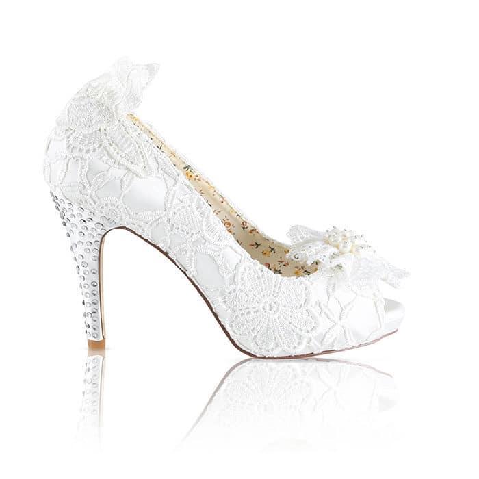 Hedo Dantelli Gelin Ayakkabısı