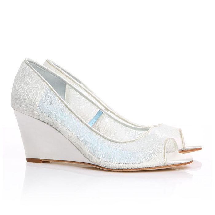 Hedo Dolgu Topuk Gelin Ayakkabısı