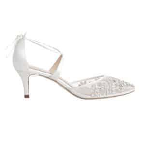 Hedo Kısa Topuk Gelin Ayakkabısı