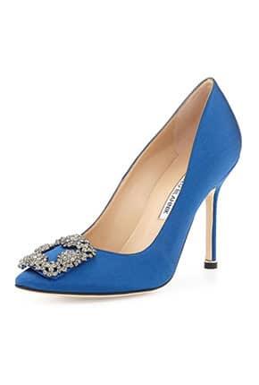 Mavi Renk Gelinlik Ayakkabısı