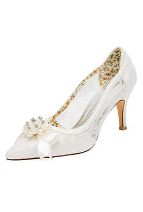 Stiletto Dantelli Gelin Ayakkabısı
