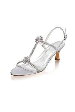 Taşlı Kemerli Gelin Ayakkabısı