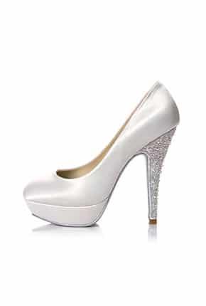 Taşlı Yüksek Topuk Gelin Ayakkabısı