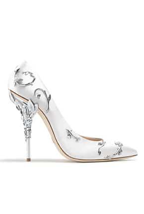 Yüksek Topuk Taşlı Gelin Ayakkabısı